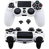 Pandaren ULTRA ARMOR GEAR FPS Case Cover Shell for PS4 Controller (White)