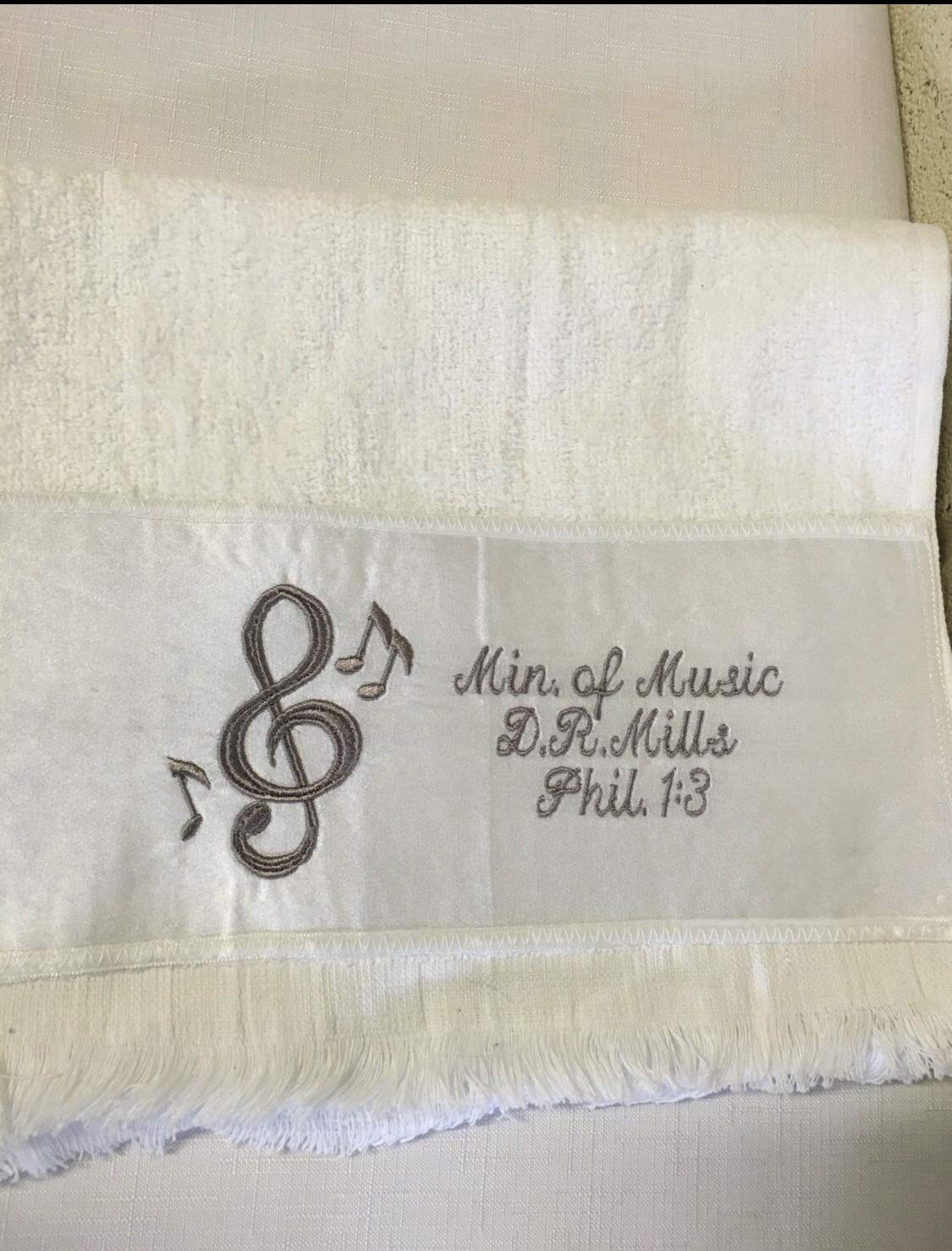 Pastors Church Hand Towel Customized Fingertip Towel