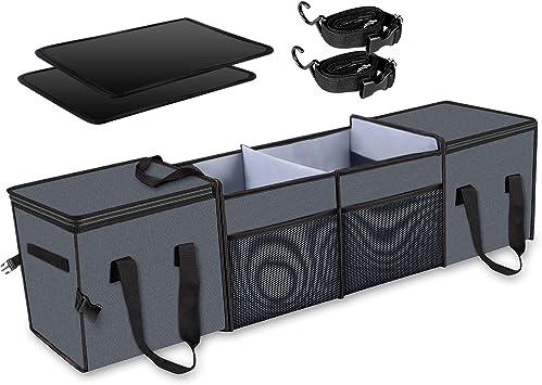 Cargo Organizer Collapsible Multi-Compartment Car Trunk Storage Organizer