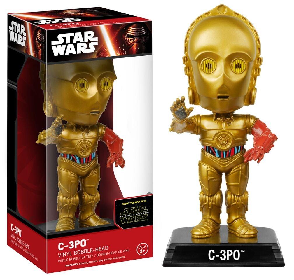 C-3PO Action Figure 6240 Accessory Toys /& Games Miscellaneous Funko Wacky Wobbler Star Wars Episode 7
