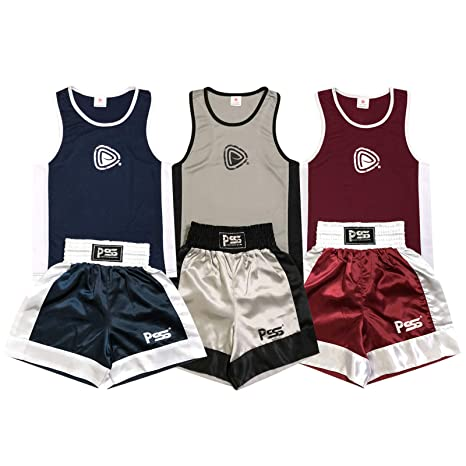 5cf73a05f1 Uniforme 2 Pezzi da Pugilato per Bambini (Canotta & Pantaloncini) Rosso -  età 3