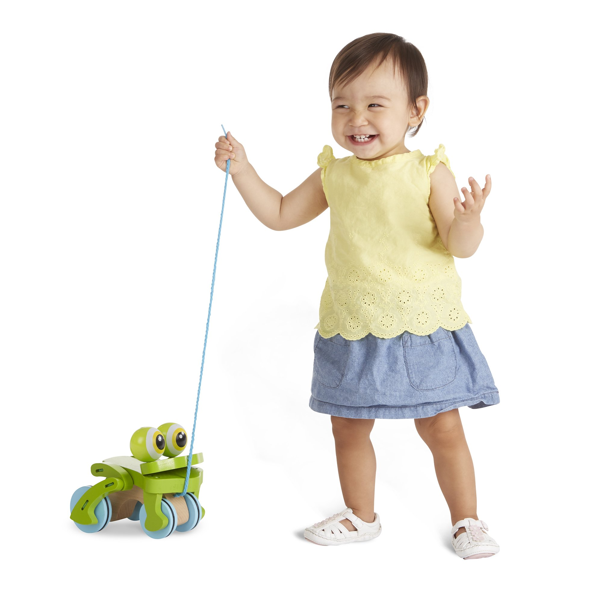Melissa & Doug First Play Frolicking Frog Wooden Pull Toy by Melissa & Doug (Image #1)