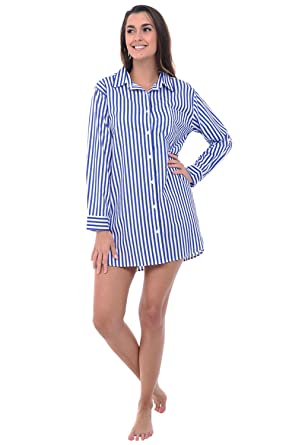 Alexander Del Rossa Womens Cotton Nightshirt e29b4642d2a4