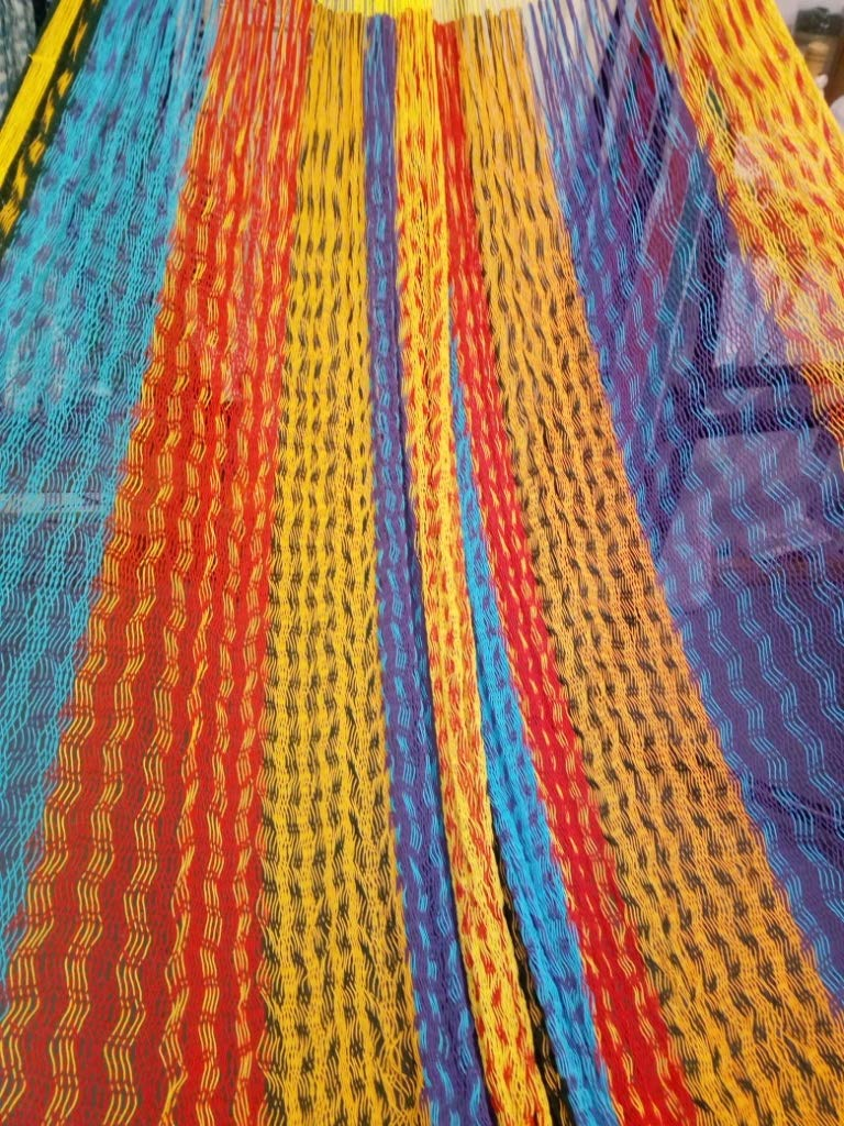 XL, Family Size Mayan Hammock (#6) Sandy(Multicolor) - Beautiful TRUE cotton Mayan hammock. XL SIZE (#6) (fAMILY or King size) Approximate size: 13.12' X 6.6', Weight 3.10lbs, Hold 660lbs Bed made with most comfortable cotton, string made of Polypropylene for more strength - patio-furniture, patio, hammocks - 71rvnc47DVL -