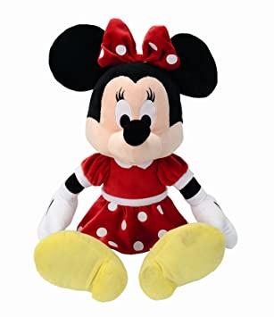 SIMBA Disney 6315878983 - Peluche de Minnie con vestido rojo (50 cm)