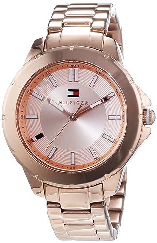 Tommy Hilfiger Watches KIMMIE - Reloj Analógico de Cuarzo para Mujer, correa de Acero inoxidable chapado color Oro rosa: Amazon.es: Relojes