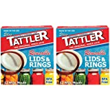Tattler Reusable Wide Mouth Canning Lids & Rubber Rings - 12/pkg - 2 Pack (Total 24 Lids)