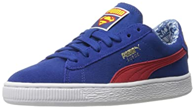 buy online 7e252 ff750 Puma Boys' Suede Superman JR Sneaker, Limoges/High Risk Re ...