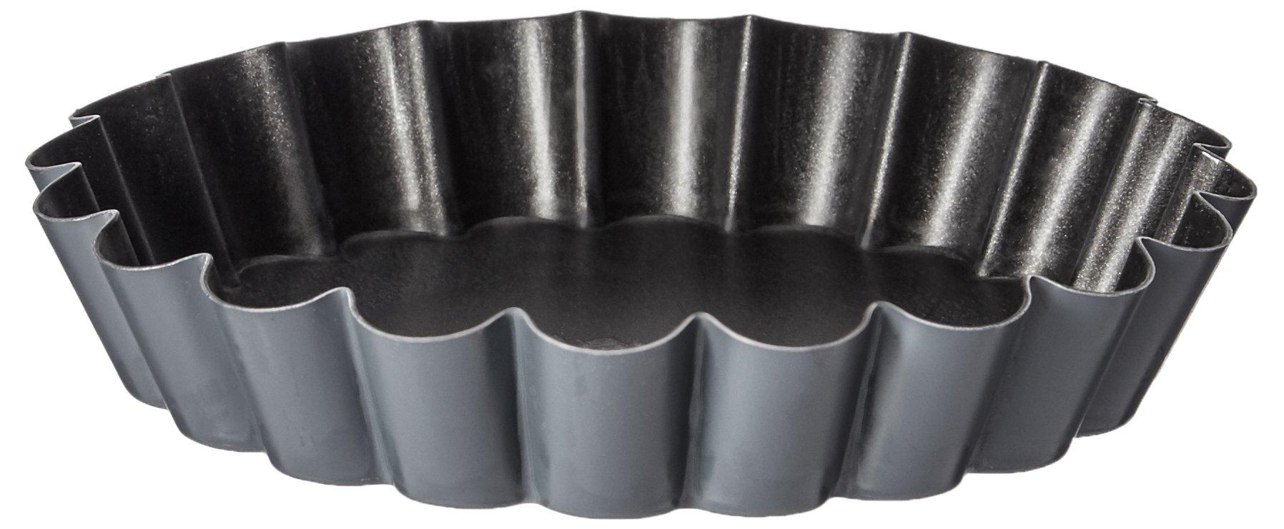 Matfer Bourgeat 332658 Exopan  Non-Stick Steel Scalloped Quiche