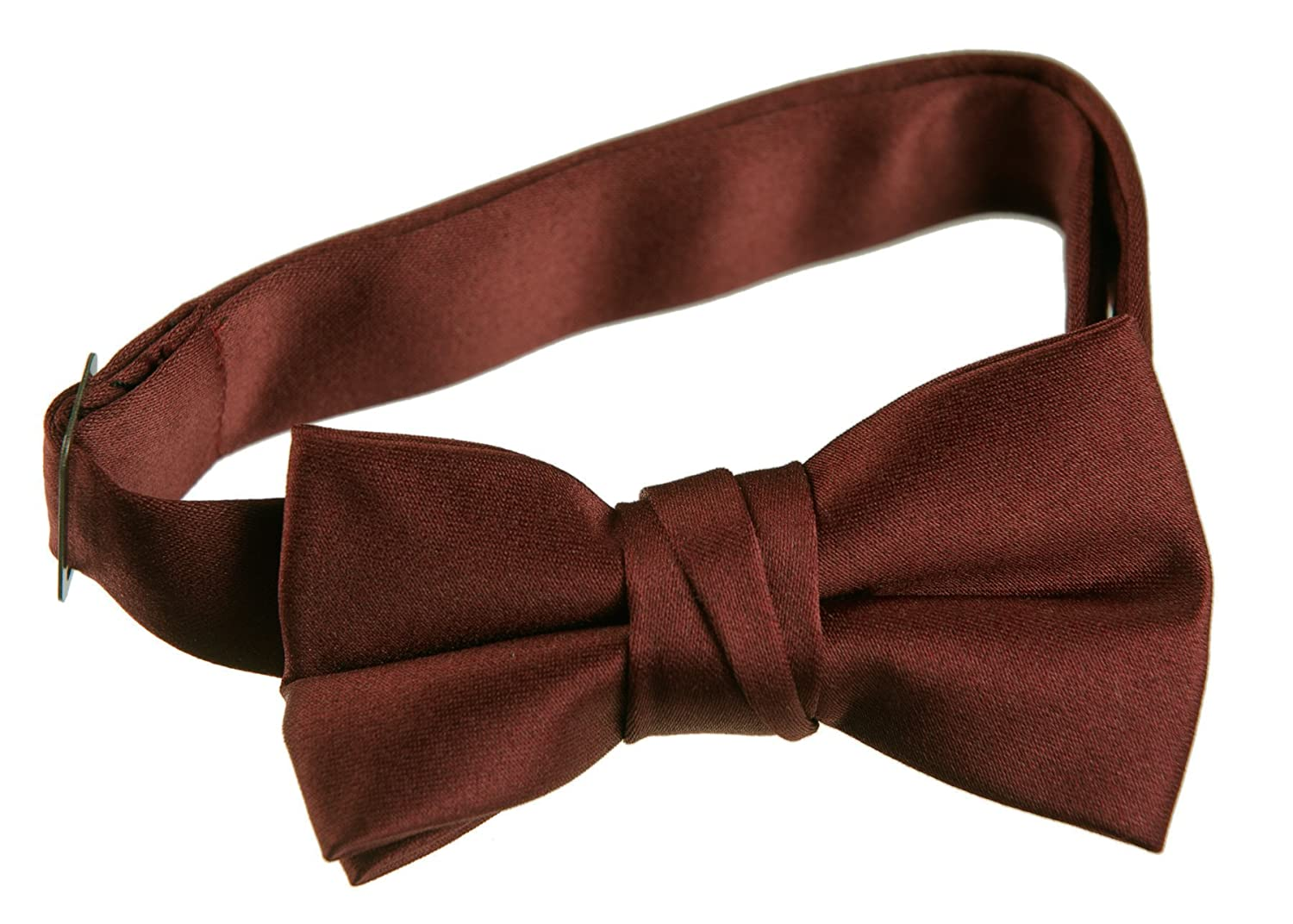 Pre Tied Bow Tie with Adjustable Neck Strap Kids, Red Brick