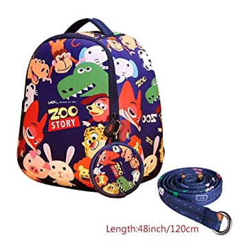 b16ca4952fbb Image Unavailable. Image not available for. Color  Anti Lost Backpack Safe  Harness Pre School Bag ...