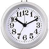 Baban sveglia /orologio /Sveglia retrò rotonda di metallo con una luce di notte argento
