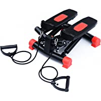 HOMCOM Mini Stepper Gym Exercise Leg Thigh Toning Workout Fitness Stair Arm Cord Training Machine (Red)