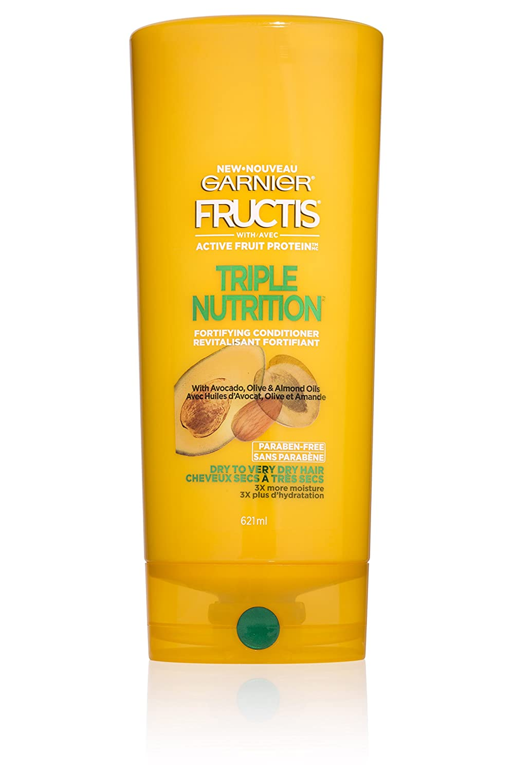 Garnier Fructis Triple Nutrition Conditioner, Dry to Very Dry Hair, 21 fl. oz.