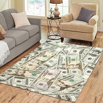 Amazon.com: InterestPrint Home Decoration USA Dollars Area Rug 7\' x ...
