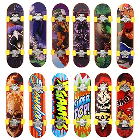 Kungfu Mall 5pcs Pack Finger Board Deck Truck Skateboard Boy Child Toy
