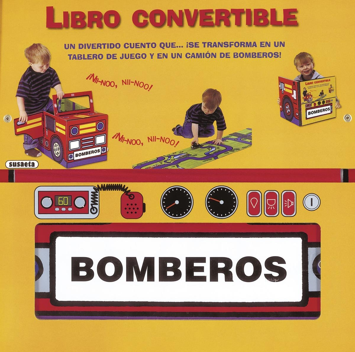 Bomberos / Firefighter (Libro convertible / Convertible book) (Spanish Edition) (Spanish) Paperback – Illustrated, June 30, 2012