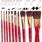 Amazon Com Professional Paint Brushes 6 Pieces For All Types Of