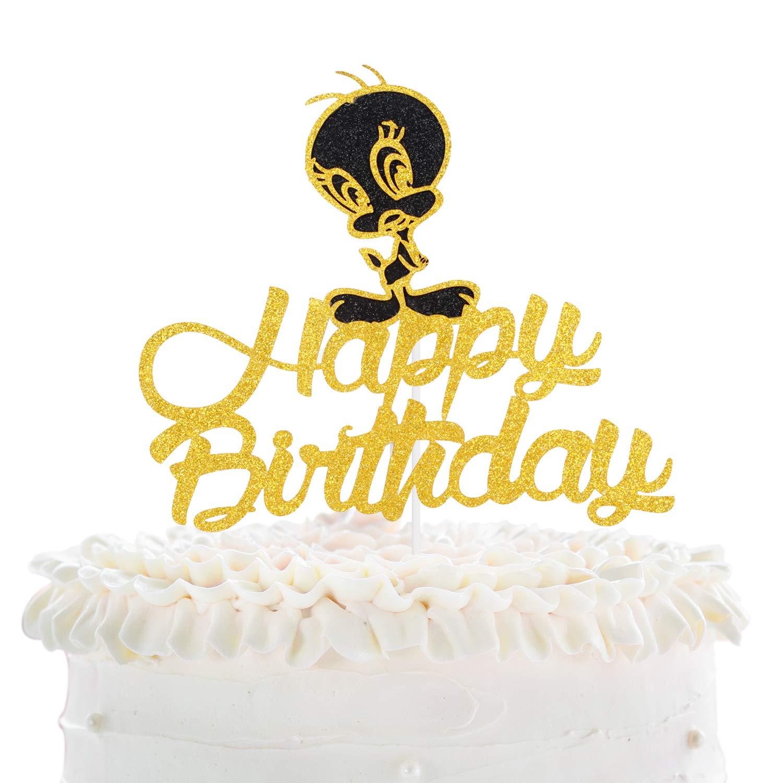 Pleasant Cartoon Tweety Happy Birthaday Cake Topper Celebrate Baby Shower Funny Birthday Cards Online Kookostrdamsfinfo