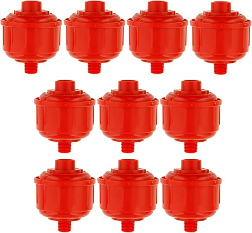 TCP Global 10-Pack Disposable Mini Air Water Filters Only Standard 1 4 Threads, Fits Most Spray Guns and Air Tools