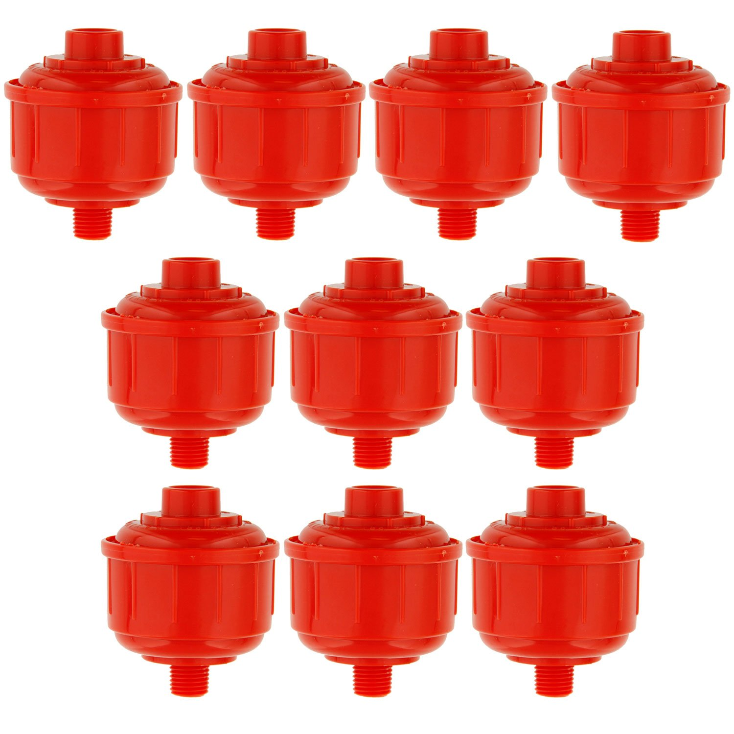 TCP Global 10 Disposable Mini Air/Water Filters Only Standard 1/4'' Threads, Fits most Spray Guns and Air Tools by TCP Global