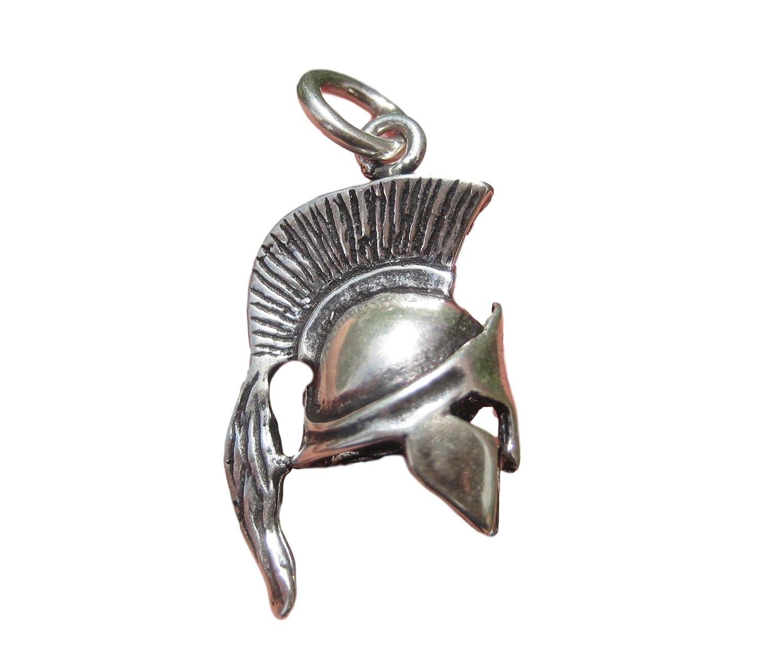 trésors de l'Himalaya Argent 925Grec Ancien Gladiateur Romain Spartan Soldats Casque Pendentif Himalayan Treasures