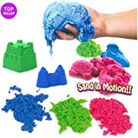 SKYFUN (LABEL) Magic Kinetic Active Funny Squeeze Sand Clay with Molded Toys for Kids (500 Gram)