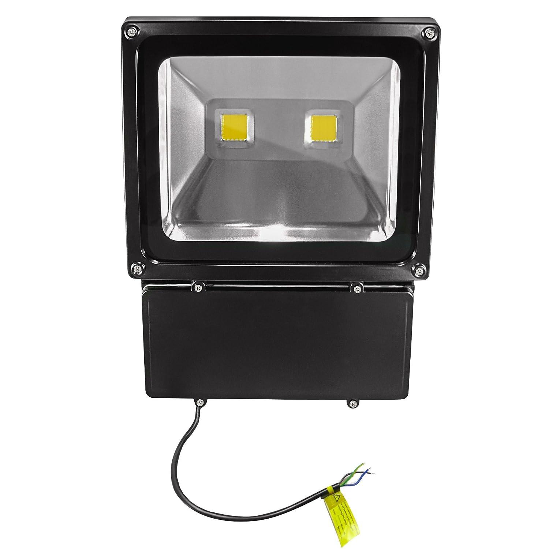 COB Warm White LED Outdoor Flood Light–IP65–100Watt–3000Kelvin–9000Lumen (replaces 900–1000Watt Halogen Bulbs) Set of 9