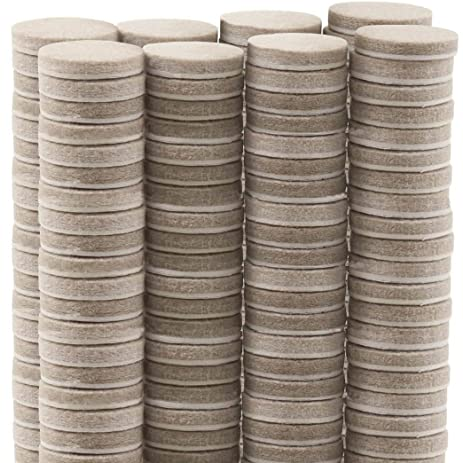 TYH Supplies Premium 1 Inch Round Furniture Pads 100 Piece Multi Use Bundle  Heavy Duty Self
