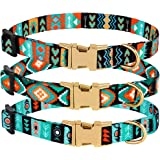 "CollarDirect Nylon Dog Collar with Buckle Tribal Pattern Puppy Adjustable Collars for Dogs Small Medium Large (Pattern 3, Neck Fit 7""-11"" with Metal Buckle)"