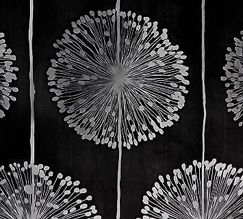 Dutch Wallcoverings 1210–7 Blume Tapete – Schwarz/Silber: Amazon.de ...