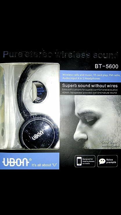 5f93b321d1d Ubon BT-5600 Pure Stereo Wireless Bluetooth Headphone with Mic (Black): Buy  Ubon BT-5600 Pure Stereo Wireless Bluetooth Headphone with Mic (Black)  Online at ...