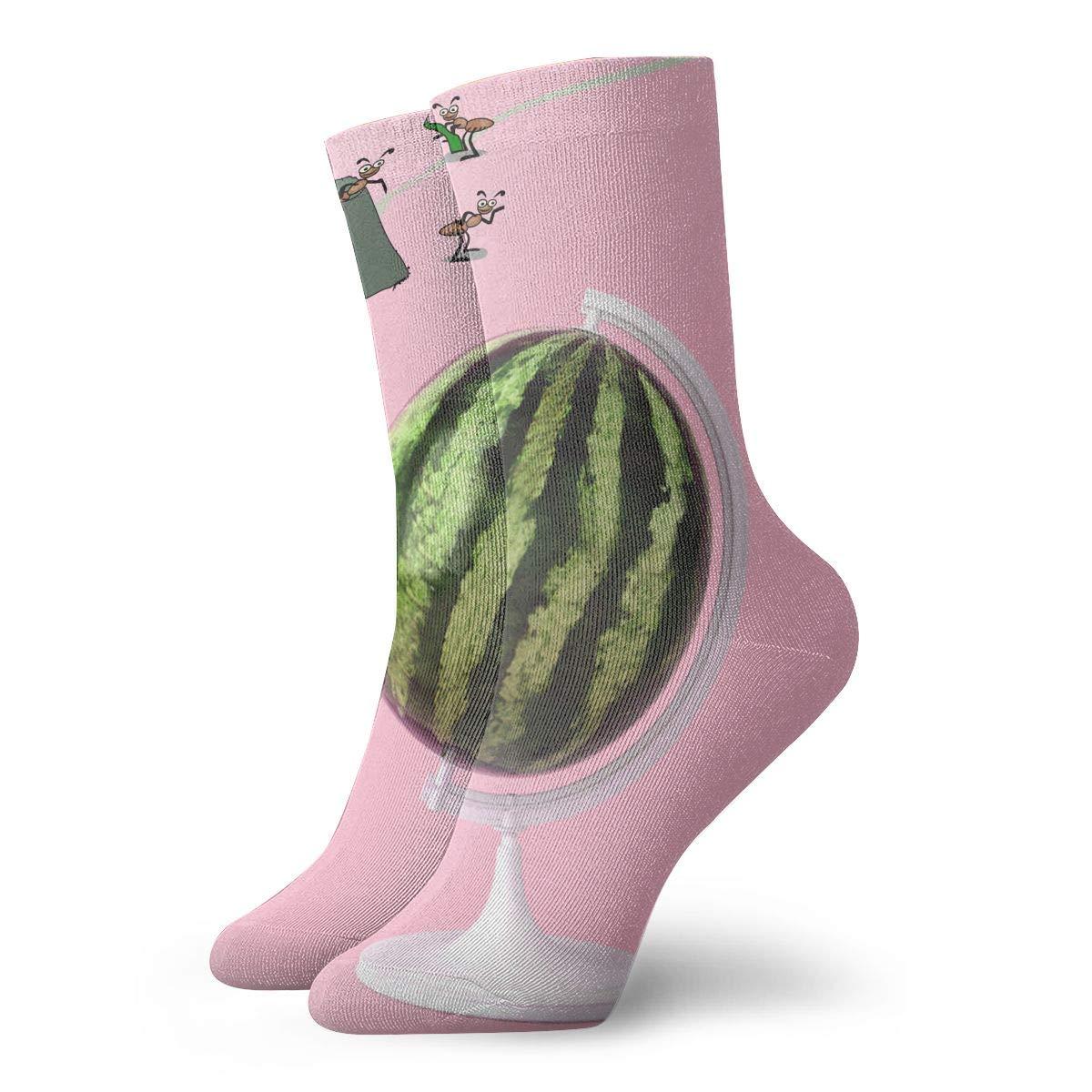 Ant Cartoon Funny Mens Fashion Dress Socks Short Socks Leisure Travel 11.8 Inch