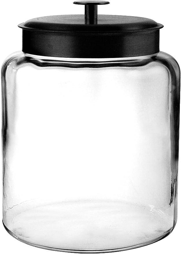 Anchor Hocking Montana 2.5-Gallon Airtight Clear Glass Jar Canister Storage Made