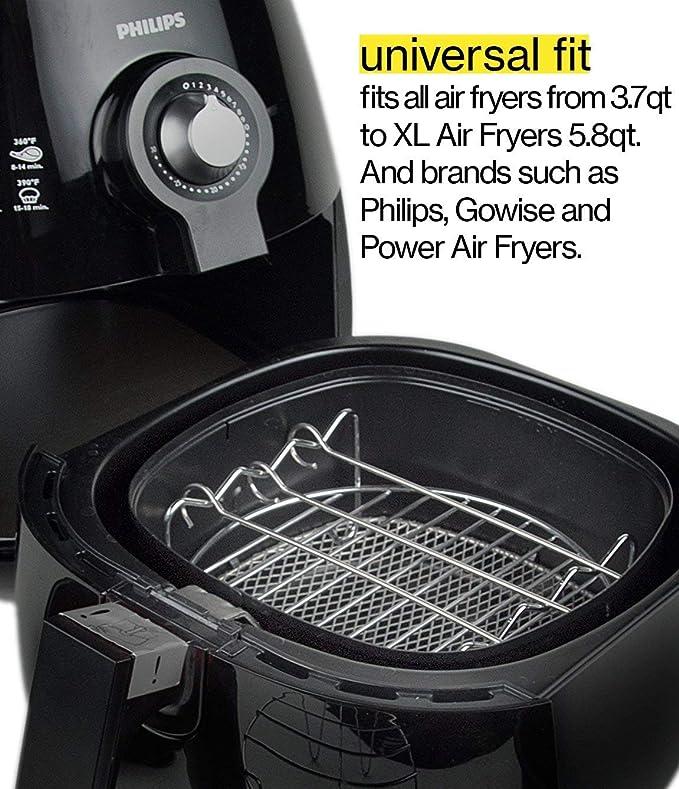Freidoras Accesorios Aire de 7 Pulgadas Aire 3.5 QT-5, 8, 5 Piezas Phillips Air Fryer y Gowise Air Fit All: Amazon.es