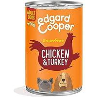Edgard & Cooper Comida húmeda Perros Adultos sin Cereales, Natural con Pollo y Pavo de Granja. Alimentación balanceada y…
