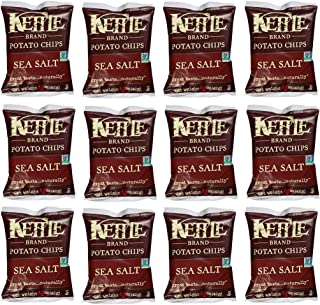 product image for Kettle Brand Potato Chips, Sea Salt, 2-Ounce Bags (12 Count)