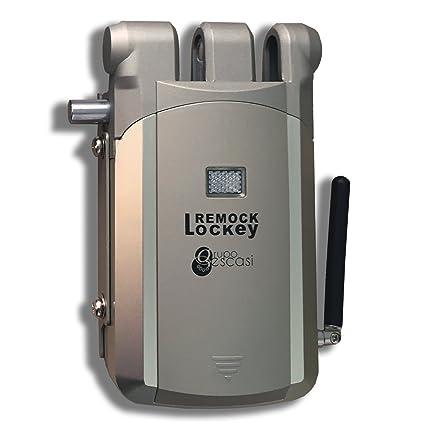 Cerradura de Seguridad Invisible - Remock Lockey con 2 mandos, Dorada (nuevo modelo de