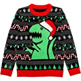 Tstars Trex Ugly Christmas Sweater Dino Dinosaur Lovers Gift for Men Women