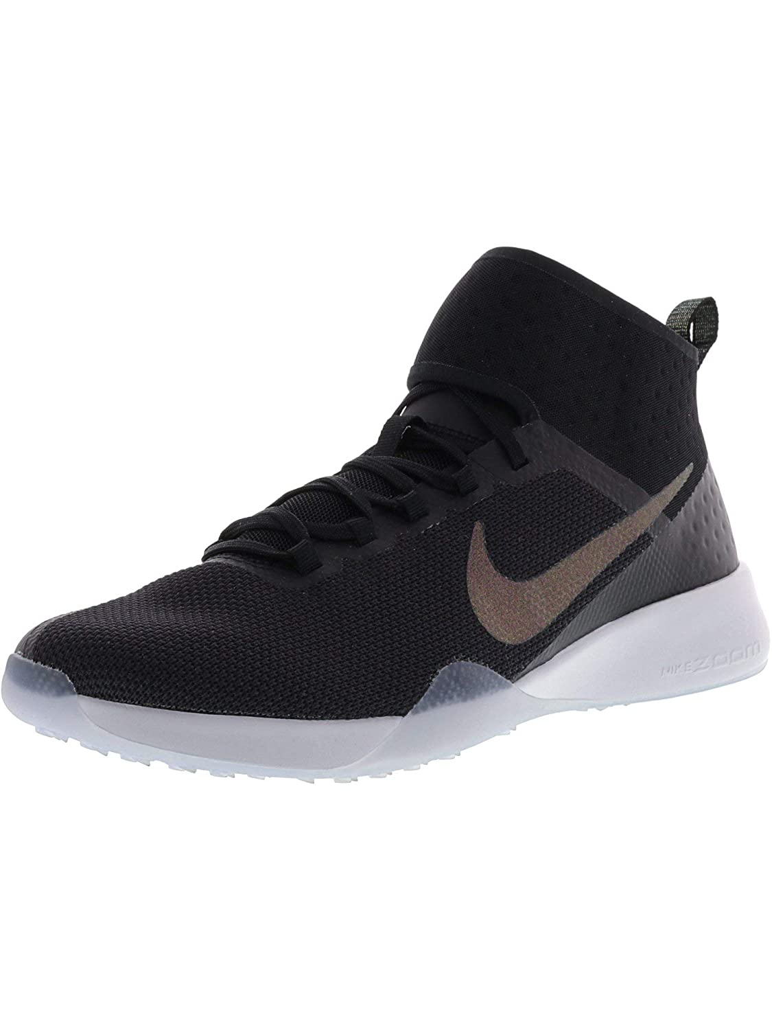 b516f2ec843a8 Nike Women's Air Zoom Strong 2 Metallic Black/Multicolor Ankle-High Mesh  Training Shoes - 6.5M