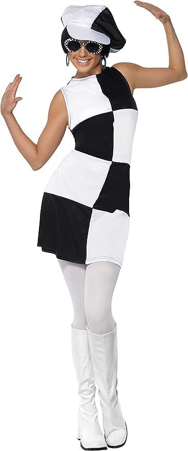 60s Costumes: Hippie, Go Go Dancer, Flower Child, Mod Style Smiffys 60s Party Girl Costume L - UK Size 16-18 Black & White £13.98 AT vintagedancer.com