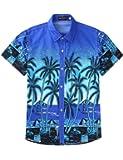 Xuba Unisex Lovers Beach Shirt Hawaiian Scenery Casual Couple Tops