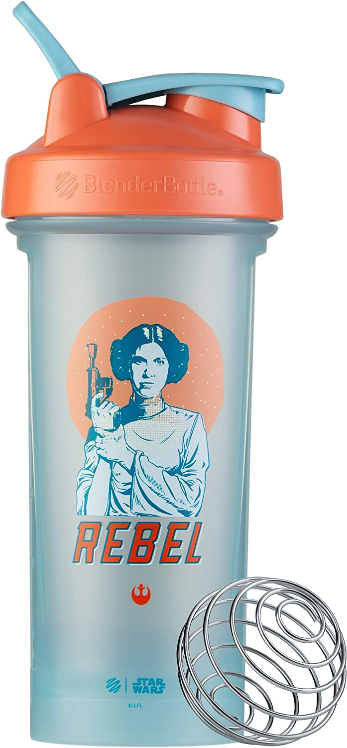 BlenderBottle Star Wars Classic V2 Shaker Bottle Perfect for Protein Shakes and Pre Workout, 28-Ounce, Rebel