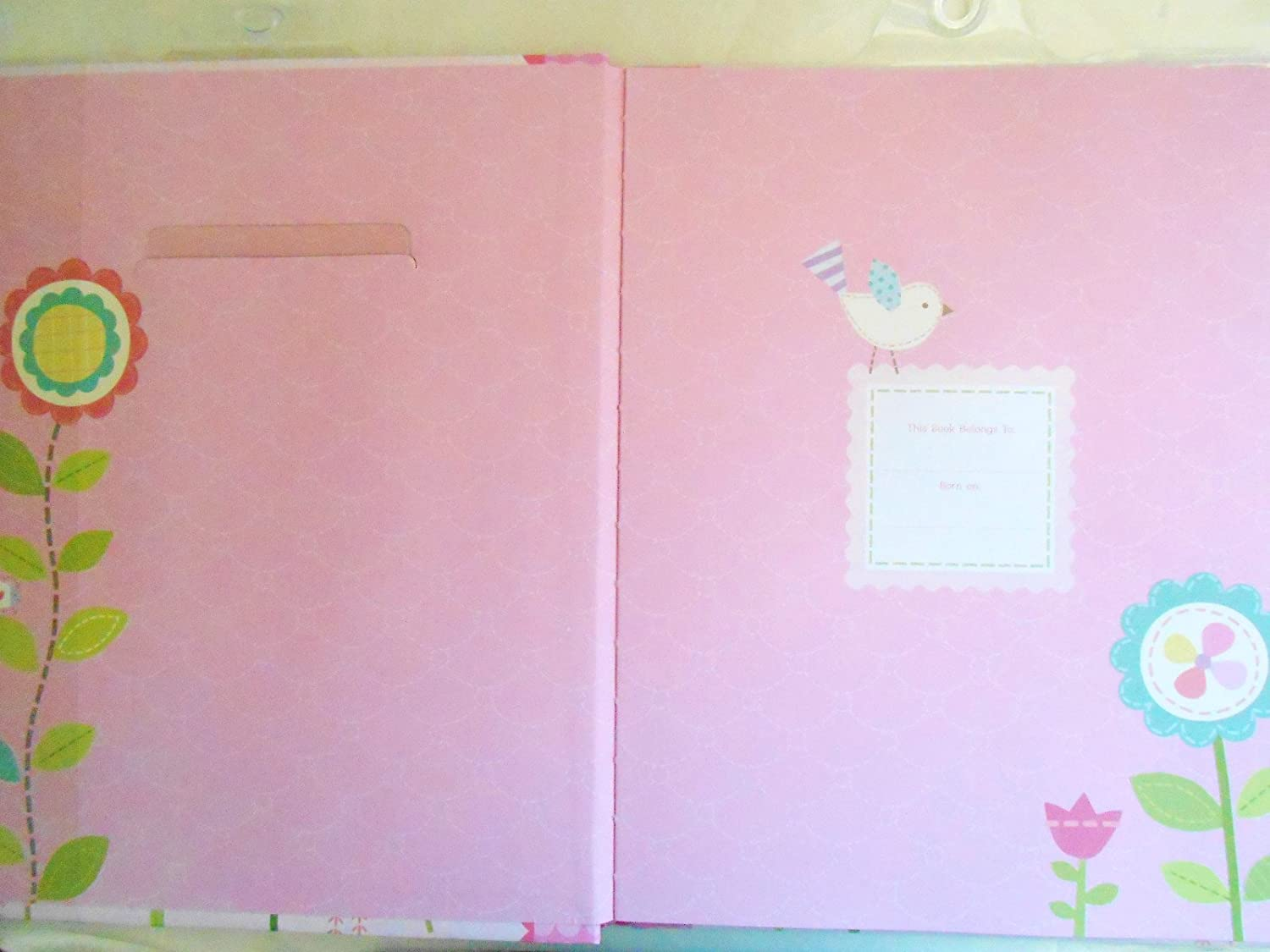 Owls Hearts /& Butterflies Babys First Memory Book Our Baby Girl Pink with Flowers