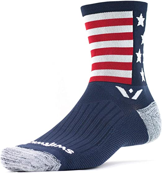 Seamless Toe Socks for Cycling Soft Performance Compression Socks Swiftwick Vision Eight Team