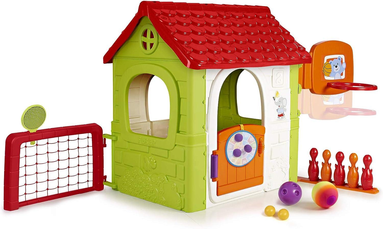 FEBER- Activity House 6in1, Casa Infantil a Partir de 3 años con Juegos incorporados, multiactivity 6en1 (Famosa 800012606)