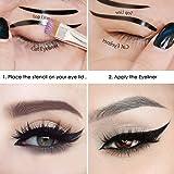 ELV Cat Smokey Eyes Makeup Eyeliner Stencils Repeatable Reusable DIY Eye Makeup Card Template Tools Kit (2 Pieces)