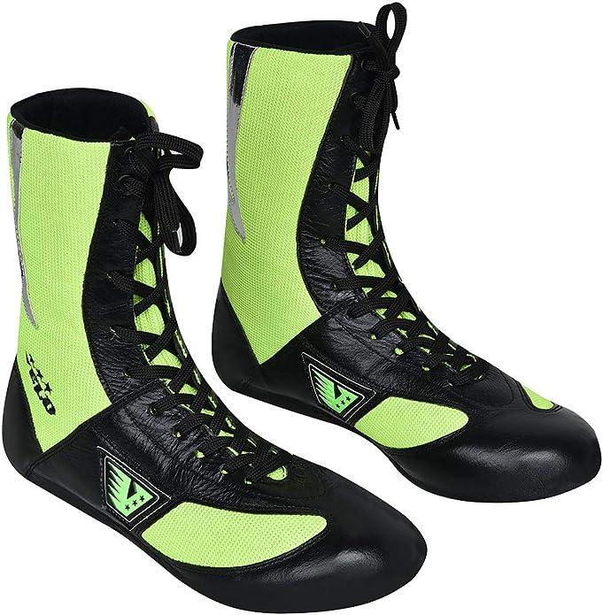 VELO leicht Netzstoff Leder-Boxschuhe Sport-Training Gr/ün Unisex