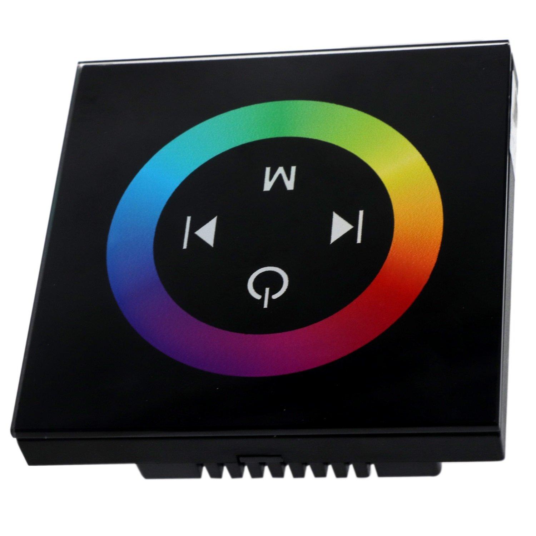 Ruanyi DC 12-24V (1PCS) TM08 Panneau tactile sans fil RF RGB Contrôleur LED Dimmer Télécommande pour Led Strip Lights Luminaire