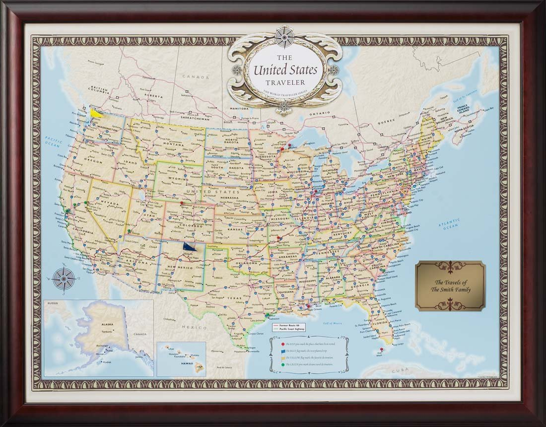 Amazoncom Personalized US Traveler Map Posters Prints